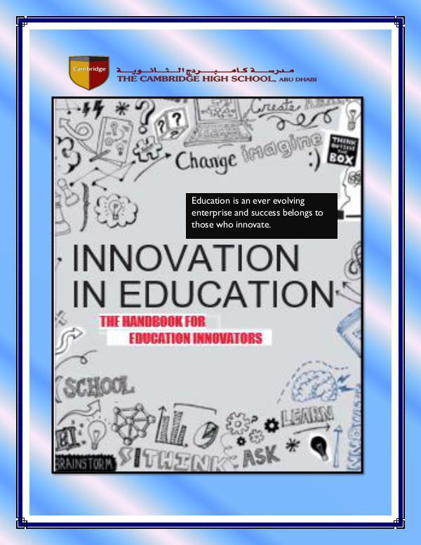 Innovation Handbook for CHS INNOVATION LEADERSHIP HANDBOOK