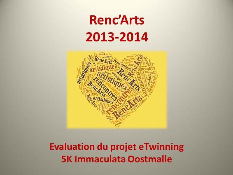 Projet eTwinning Renc`Arts - Evaluation Projet eTwinning Renc`Arts - Evaluation