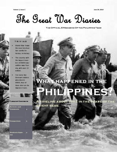 world war 2 in the Philippines Jun. 2014