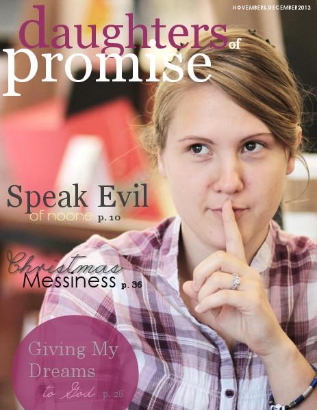 Daughters of Promise November/December 2013