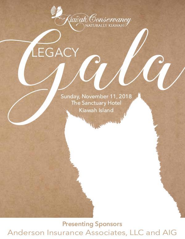Event Programs and Photo Albums Legacy Gala Program 2018
