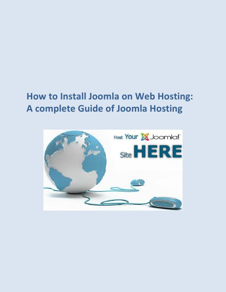 How to Install Joomla on Web Hosting How to install joomla on web hosting