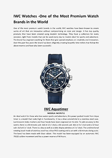 IWC Watches -One of the Most Premium Watch Brands in the World.pdf