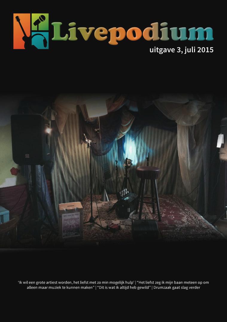 LivePodium Magazine Uitgave 3, juli 2015