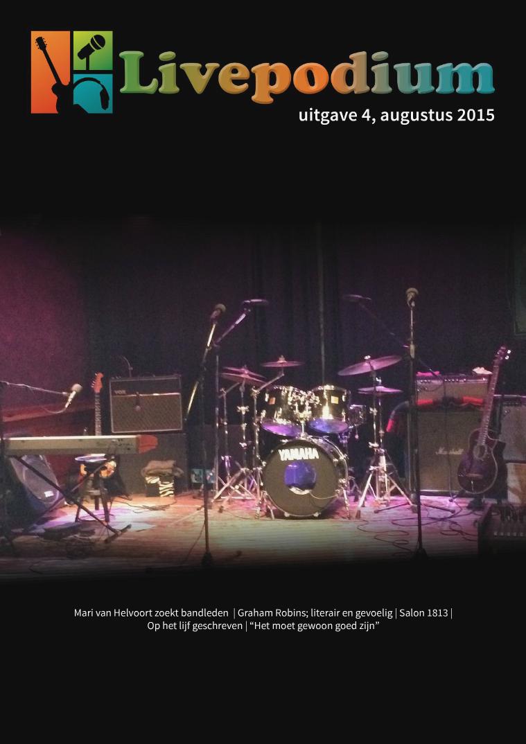 LivePodium Magazine Uitgave 4, augustus 2015