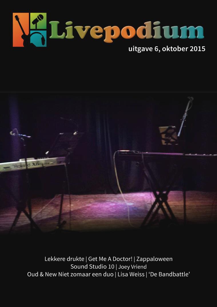 LivePodium Magazine Uitgave 6, oktober 2015