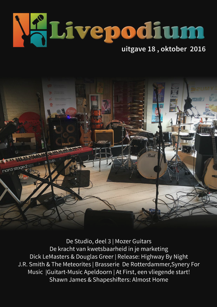 LivePodium Magazine Uitgave 18, oktober 2016
