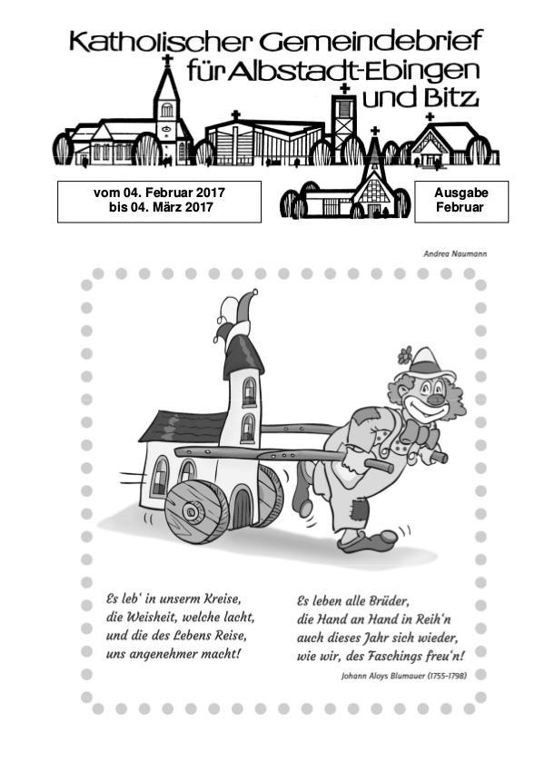 Gemeindeblatt Februar 2017 Februar 2017