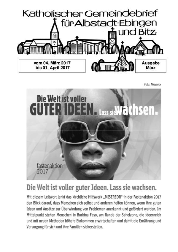 Gemeindeblatt März 2017 März 2017