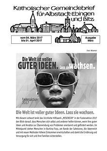 Gemeindeblatt März 2017