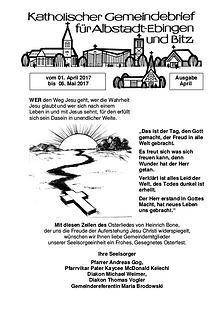 Gemeindeblatt April 2017