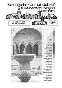 Gemeindeblatt Juli 2017