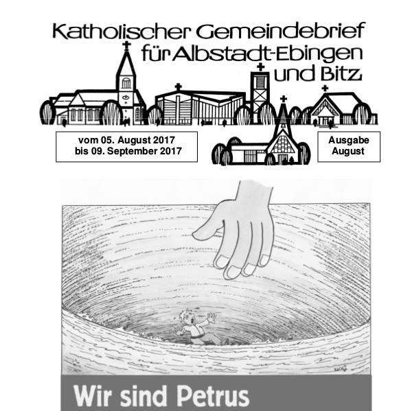 Gemeindeblatt August 2017 Kirchenblatt August 2017