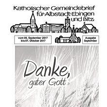 Gemeindeblatt September 2017