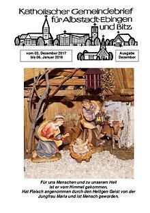 Gemeindeblatt Dezember 2017