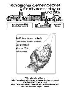 Gemeindeblatt Januar 2018