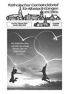 Gemeindeblatt Februar 2018