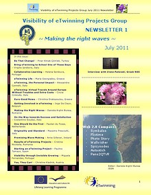 eTwinning Visibility Newsletter no. 1