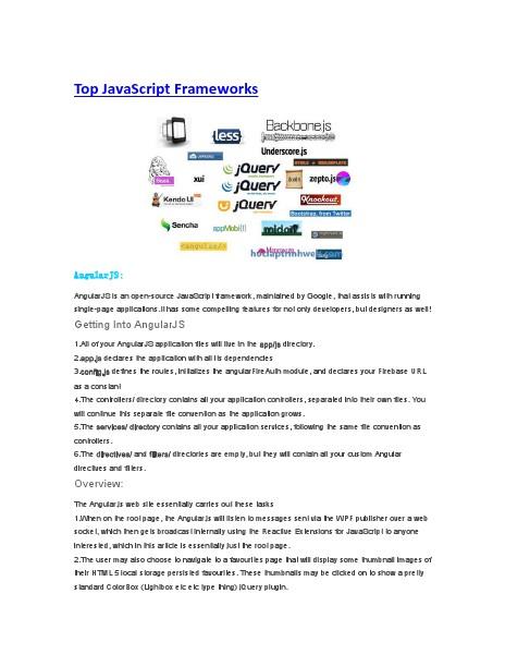 Top JavaScript Frameworks july 2014