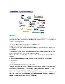 Top JavaScript Frameworks