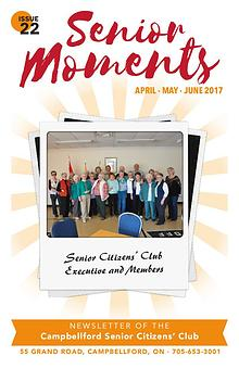 Senior Moments - The Campbellford Seniors Club Newsletter
