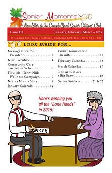 Senior Moments - The Campbellford Seniors Club Newsletter