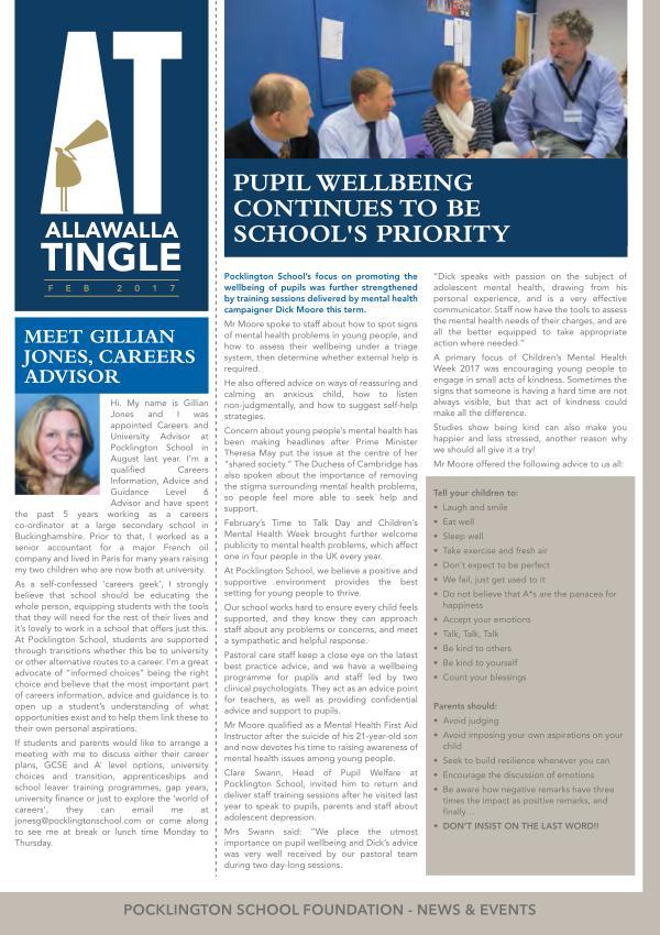 Pocklington School - Allawalla Tingle February 2017