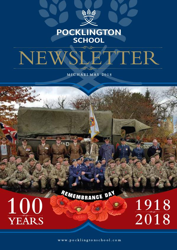 Pocklington School Newsletter Michaelmas Term 2018