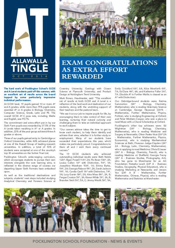 Pocklington School - Allawalla Tingle Oct 2016