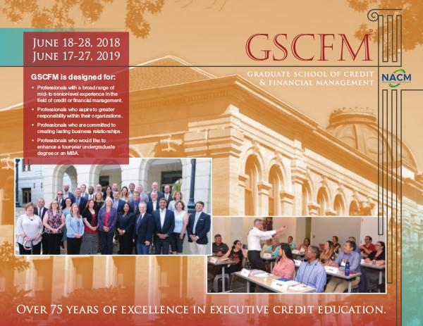 GSCFM  and GSCFMI Programs GSCFM Brochure 2017