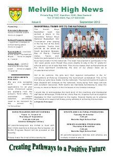 Melville High School - Newsletters 2012