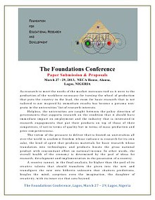 Foundations Conference News