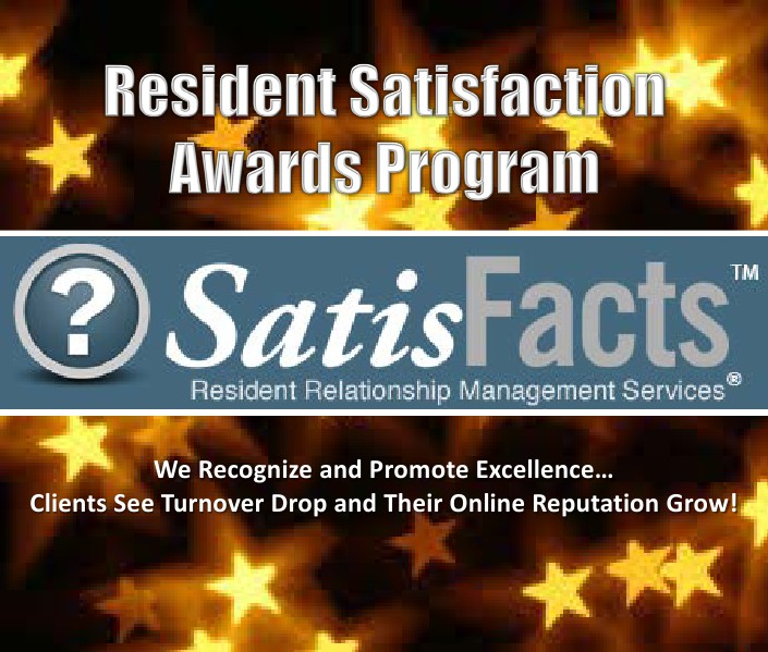 SatisFacts Resident Satisfaction Awards Program Resident Satisfaction Awards Program