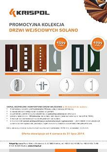 Promocyjna kolekcja drzwi wejściowych Promocyjna kolekcja drzwi wejściowych SOLANO