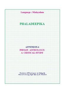 Phaladeepika - Appendix 6