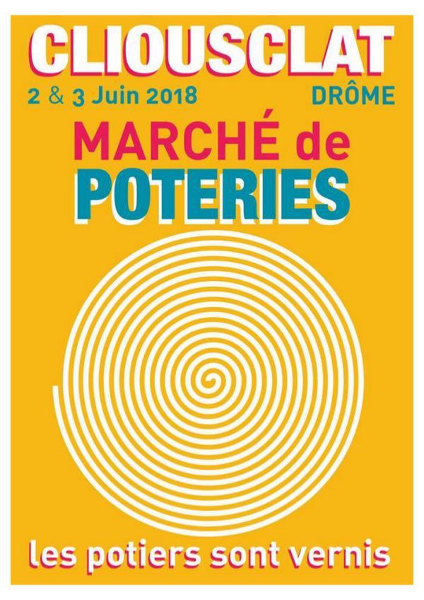 Marché de poteries de terre vernissée Dossier Presse Marche Potier Cliousclat 2018