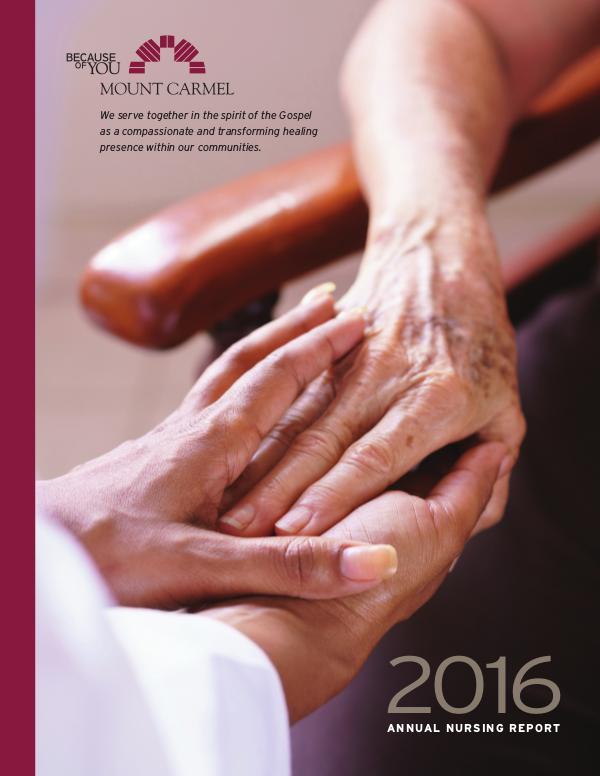 Mount Carmel Health System 2016 Annual Nursing Report
