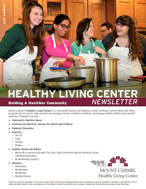 Healthy Living Center Summer 2018