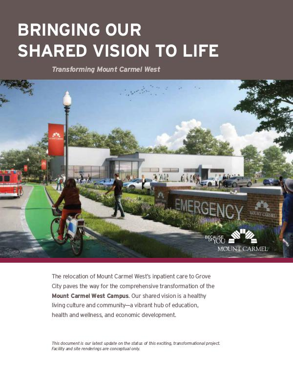 Mount Carmel Health System Bringing Our Shared Vision to Life