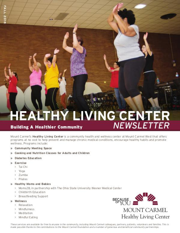 Healthy Living Center Fall 2018