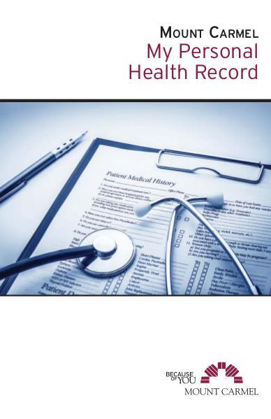 Patient Education My Personal Health Record