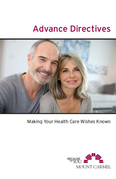 Patient Education Advance Directives: Making Your Health Care Wishes