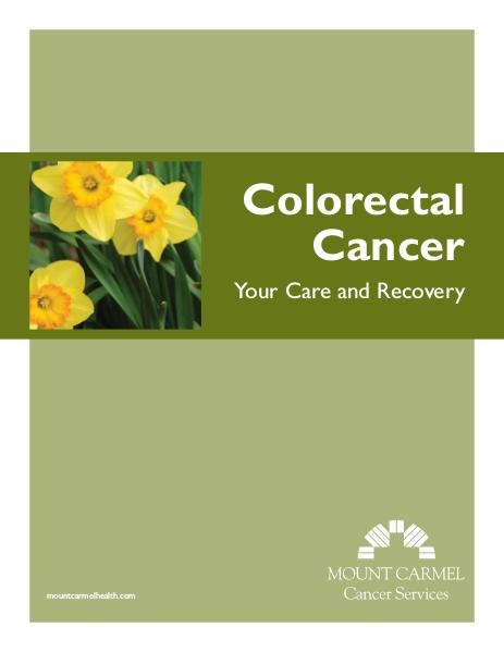 Patient Education Colorectal Cancer: Your Care and Recovery