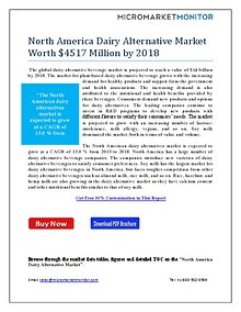 North America Dairy Alternative Market Worth $4517 Million by 2018