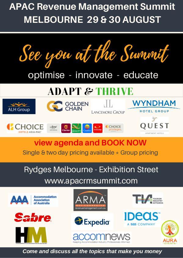 APAC Revenue Management Summit 2017 APAC REVENUE MANAGEMENT SUMMIT 2017