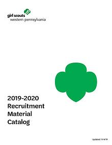GSWPA Recruitment Materials Catalog