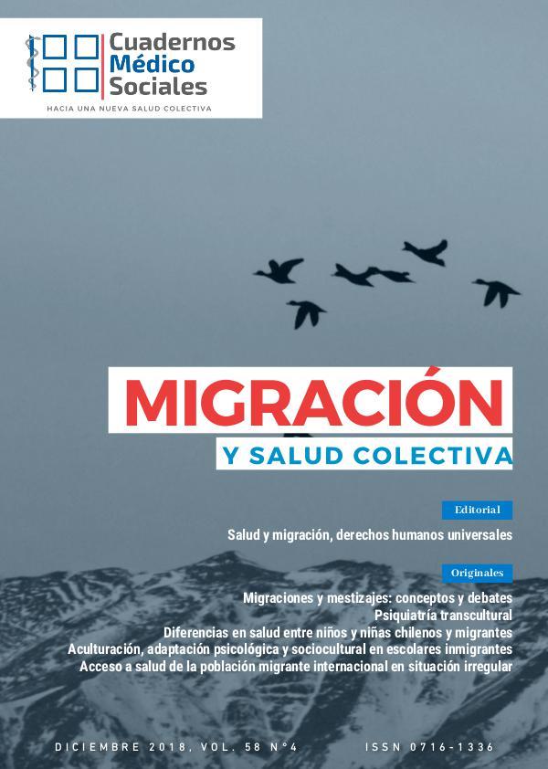 Cuadernos Médicos Sociales 2019; Vol 58 N°4