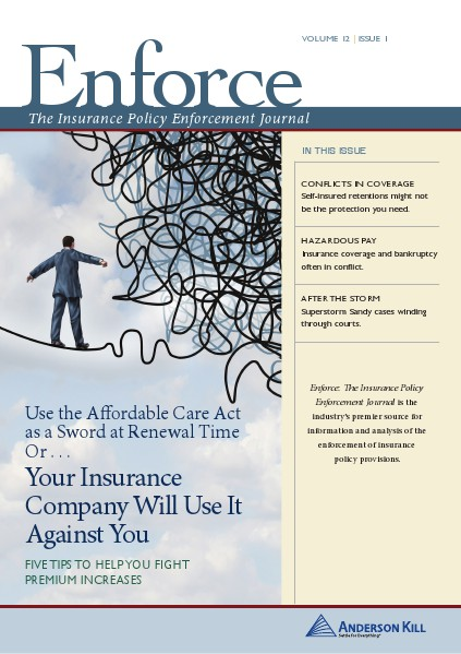 Enforce: The Insurance Policy Enforcement Journal  vol 12 | issue 1 Enforce vol 12 | issue 1