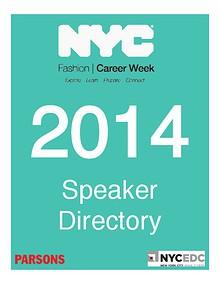 NYC Fashion Career Week 2014