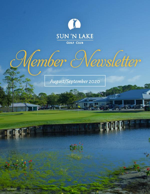 Sun 'N Lake August 20 Newsletter